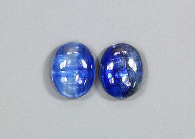 5.42 CTS_WOW ! AMAZING_10 x 8 OVAL CAB_MATCHING PAIR_100 % NATURAL KYANITE_NEPAL