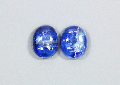 6.05 CTS_WOW ! AMAZING_10 x 8 OVAL CAB_MATCHING PAIR_100 % NATURAL KYANITE_NEPAL