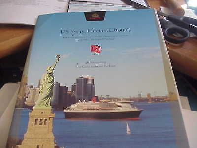 """Cunard Line - """"175 Years, Forever Cunard""""   2015 - Grills Inclusive Package"""