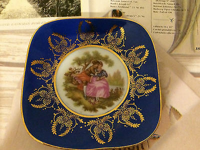 Vintage Fine China Limoges Meissner France Pin Tray Dish