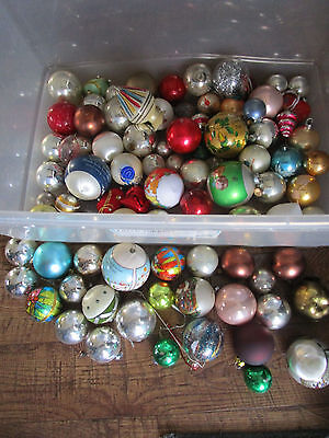 HUGE LOT 90 Vtg Shabby Christmas Ornaments Lot Chic Crafting/Assr't Colors Sizes