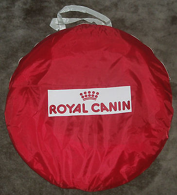 Royal Canin red pop up dog agility training tunnel Unused