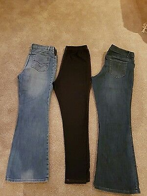 3 pairs of maternity jeans