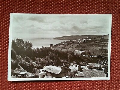 Rp Laxey Isle Of Man Postcard Looking South Manx Electric Railway Real Photo Iom