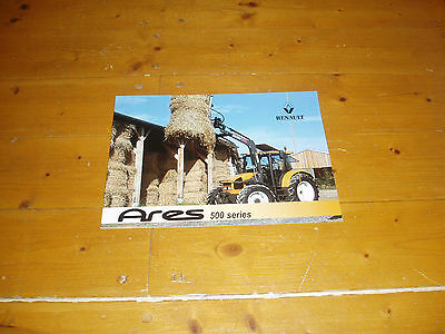 Renault Ares 500 Tractor Brochure 16 Page Book 02/2002