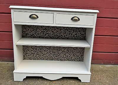 Slim hall / console cabinet with 2 drawers hand painted