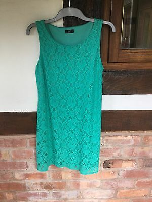 Lovely Ladies Jade Green Lace Dress by F&F - Size 16