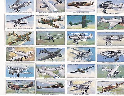 Players  A938  Aircraft of the RAF complete set of 50