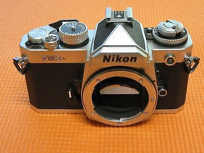 Nikon FM3A Black/Silver 35mm SLR Film Camera *Body Only* Bent Shutters