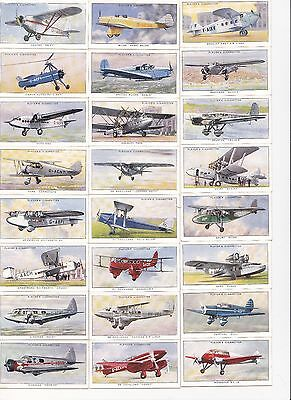 Players   1935 Aeroplanes Complete set of 50