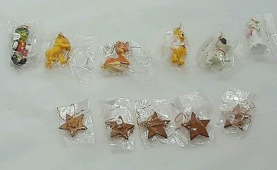 Disney Christmas Collection Miniature ornaments 6 characters plus mickey stars