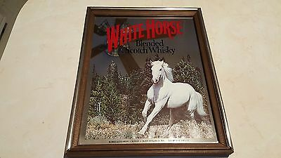 White Horse Blended Scotch Whisky Glass Mirror Sign