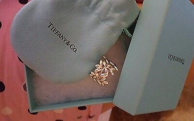 Genuine Paloma Tiffany Olive band 925 silver ring size 8 PQ In store now@£300!