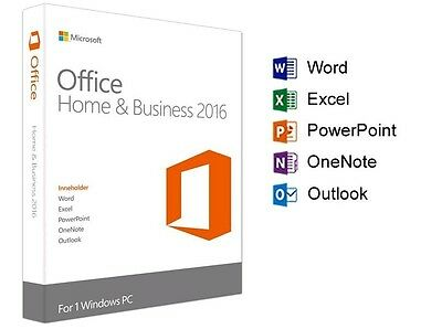 Microsoft Office Home and Business 2016 1PC Fast Deliver ARP £219