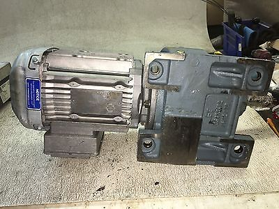 Sew Eurodrive Gear Motor, Ratio 80.55, In 1700 Rpm, Out 21 Rpm, Used