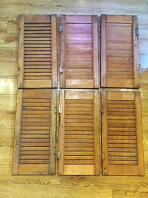 VINTAGE WOODEN FRENCH SHUTTERS Set Of 6