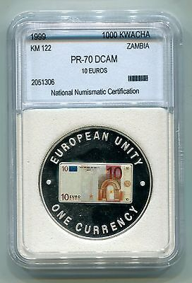 Zambia : 1000 Kwacha 1999 Proof (KM 122) - Multicolored 10 Euro