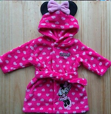 Disney MINNIE MOUSE Dressing Gown 6-9 Months