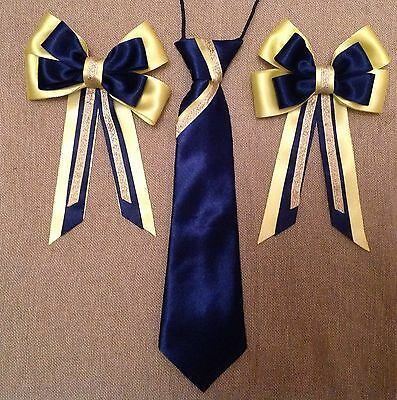 childs equestrian showing set - show tie and bows L@@K!