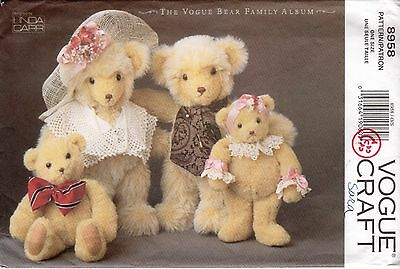 *Vogue Craft 8958 BEAR FAMILY Linda Carr Sewing Pattern Uncut