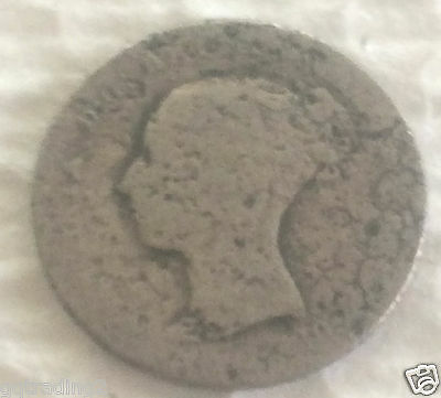 1843 four pence groat  coin .925 Sterling Silver  #92