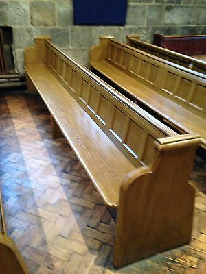10ft Vintage Church Pew Bench Settle Seating Furniture Reclaimed Antique Chapel
