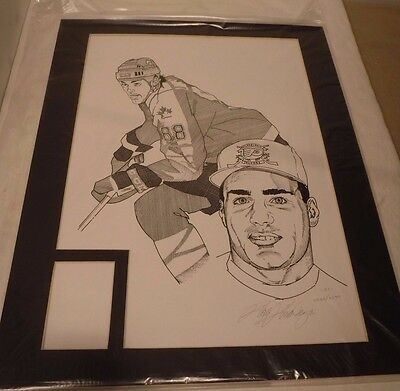 1995 Eric Landros Lithograph Signed By Artist Rick Rivadeneyra COA 18x13 Matted