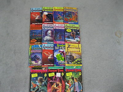 15 R.l.stine Goosebumps Inc's 3 Fright Time Novels See Pics For Book Titles