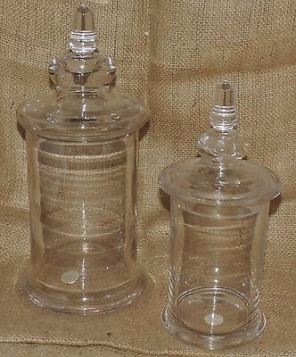 Antique 19th Century French Blown Glass Pharmacy Apothecary Lidded Jar PV France