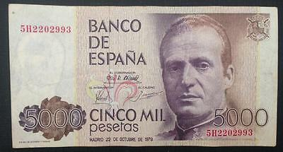 Spain. 1979. 5000 Pesetas Banknote In Nice Grade. Pick# 160. Cat.val. 80 Us$.