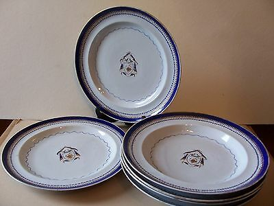 CHINA TRADE ARMORIAL SOUP BOWLS MADE FOR AMERICAN MARKET, c. 1810