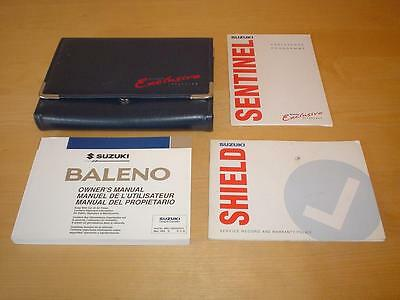 SUZUKI BALENO GS GLX CULTUS ESTEEM Owners Service Manual Handbook Book Wallet
