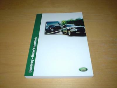 LAND ROVER DISCOVERY 2 II TD5 V8 HSE SE Owners Manual Handbook Guide To Service
