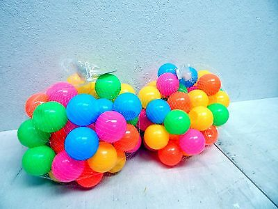 Natorytian 100 pc Colorful Soft Plastic Ball Pit Balls (INDENTIONS IN SOME)