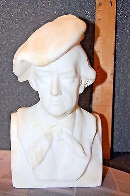Vintage 10 Inch High Marble Bust Of Composer Richard Wagner  Free Shipping