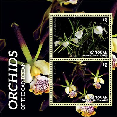 Canouan Grenadines of St Vincent - Orchids of the Caribbean - 1401 S/S MNH