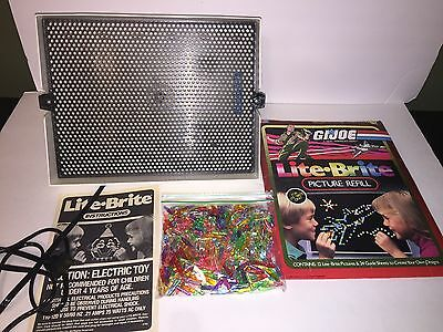 Vintage LITE BRITE Toy w/ G.I. Joe Refill Kit And Lots of Pegs!