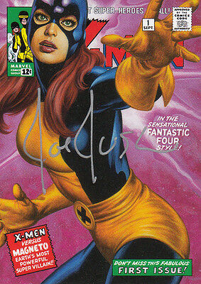 2016 Marvel Masterpieces Autograph What If #75 Jean Grey #03/10 Auto Rare VHTF