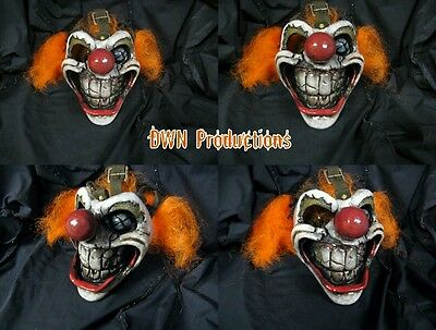 Sweet tooth clown mask twisted metal mortal kombat prop fiberglass cosplay dwn