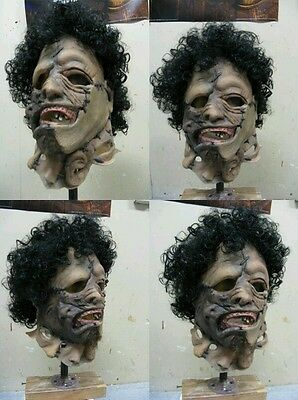texas chainsaw massacre 2 leatherface mask prop bust horror cosplay halloween