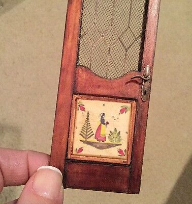 Hand Made French Quimper Decorative Door Artisan Dollhouse Miniature