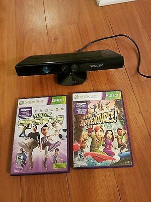 Kinect xbox 360 with 2 games