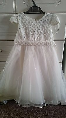 NEW Ivory flower bridesmaids wedding party formal dress girls age 9-10