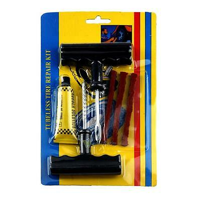 Auto Motorcycle Car Tubeless Tyre Puncture Plug Tire Repair Cement Tool Kit
