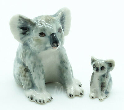 Figurine Animal Ceramic Statue Mama Koala With Baby - CWB002