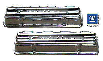 Cadillac Caddy polished cast aluminum valve covers, 331-365-390-429 1949-1967