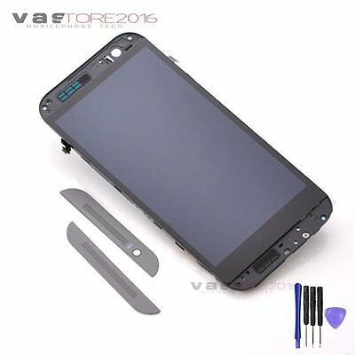 Gray For HTC One M8 831C LCD Display Touch Screen Digitizer+Frame Assembly Part