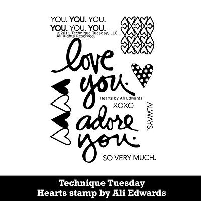 Technique Tuesday Stamp Set - Hearts by Ali Edwards
