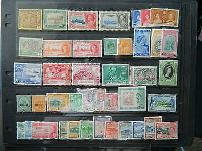 1707 St Kitts Nevis  1920-1957 Collection Mint Og Hinged/never Hinged