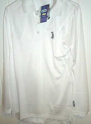 Cricket Shirt Long Sleeve M Medium Stay Dry Kookaburra White Brand New Free Post